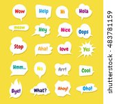 speech bubbles with color texts | Shutterstock .eps vector #483781159
