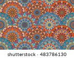 scales pattern from flower... | Shutterstock .eps vector #483786130