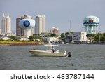 atlantic city  new jersey  usa  ... | Shutterstock . vector #483787144