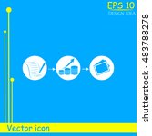 business finance career icons | Shutterstock .eps vector #483788278