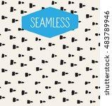 handsketched vector seamless... | Shutterstock .eps vector #483789946