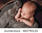 little boy with shining soft... | Shutterstock . vector #483790120