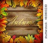 fall background | Shutterstock .eps vector #483803230