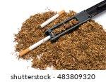 cigarette rolling machine and... | Shutterstock . vector #483809320