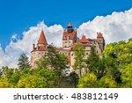 dracula medieval castle bran ... | Shutterstock . vector #483812149