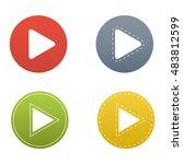 ui interface button play media | Shutterstock .eps vector #483812599