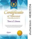 certificate of achievement.... | Shutterstock .eps vector #483825556
