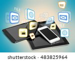 tablet. | Shutterstock . vector #483825964