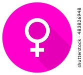 female flat pink icon | Shutterstock . vector #483826948