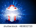 open gift box with shining... | Shutterstock .eps vector #483832720