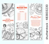 mexican food design template.... | Shutterstock .eps vector #483833230