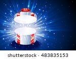 open gift box with shining... | Shutterstock .eps vector #483835153