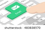 email button on keyboard | Shutterstock .eps vector #483838570