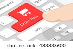 order now on keyboard | Shutterstock .eps vector #483838600