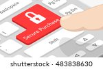 secure purchase button with icon | Shutterstock .eps vector #483838630
