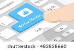 social media button on keyboard | Shutterstock .eps vector #483838660