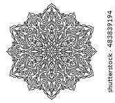 mandala. ethnic decorative... | Shutterstock .eps vector #483839194