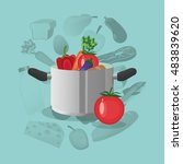 healthy food icons image    Shutterstock .eps vector #483839620