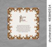 vector design card template.... | Shutterstock .eps vector #483840514