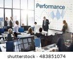 report analysis progress chart... | Shutterstock . vector #483851074