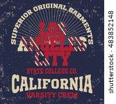 college fashion design print... | Shutterstock . vector #483852148