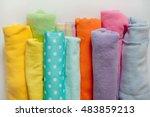 Bright Fabrics Stacked Rolls....