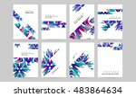 business abstract template... | Shutterstock .eps vector #483864634