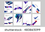 business abstract template... | Shutterstock .eps vector #483865099