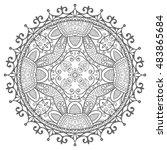 black and white geometric...   Shutterstock .eps vector #483865684