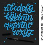 vector hand drawn alphabet.... | Shutterstock .eps vector #483876124