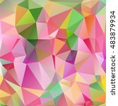 abstract multicolored triangle... | Shutterstock .eps vector #483879934