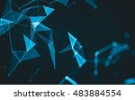 abstract polygonal space low