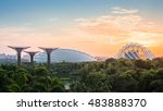 garden by the bay  singapore | Shutterstock . vector #483888370
