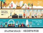 egypt start your adventure... | Shutterstock .eps vector #483896908