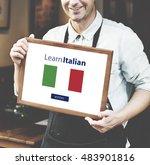 learn italian language online... | Shutterstock . vector #483901816