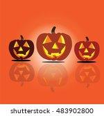halloween   halloween pumpkin...   Shutterstock .eps vector #483902800