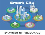 smart city and various... | Shutterstock .eps vector #483909739