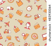 seamless pattern with linear...