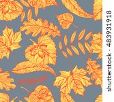 vector seamless autumn pattern... | Shutterstock .eps vector #483931918