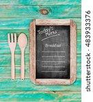 today's menu for breakfast on... | Shutterstock . vector #483933376