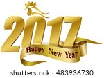 happy new year 2017. year of... | Shutterstock .eps vector #483936730