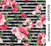 seamless floral pattern with... | Shutterstock .eps vector #483939358