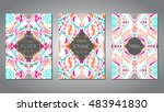 vector set of geometric... | Shutterstock .eps vector #483941830