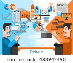 elections and voting flat color ...   Shutterstock . vector #483942490