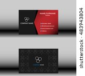 business card template | Shutterstock .eps vector #483943804