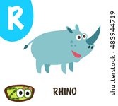cute zoo alphabet in vector. r... | Shutterstock .eps vector #483944719