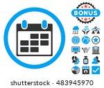 calendar icon with bonus... | Shutterstock .eps vector #483945970