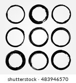 vector grunge circles.grunge... | Shutterstock .eps vector #483946570