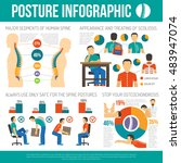 posture infographics layout... | Shutterstock . vector #483947074