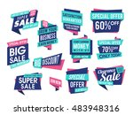 creative sale and discount... | Shutterstock .eps vector #483948316